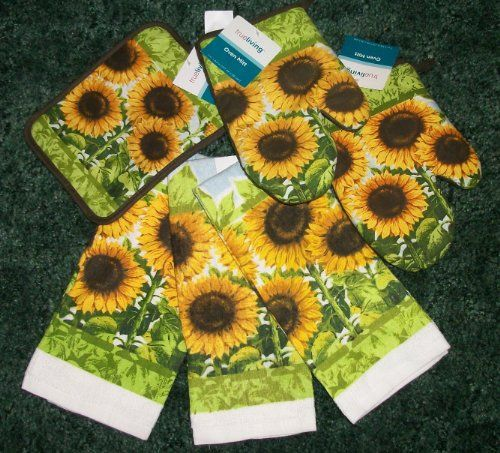 Cute Sunflower Kitchen Towel Set True Living Https Www Amazon Com Dp B004mui5a6 Ref Cm Sw Sunflower Kitchen Decor Sunflower Kitchen Sunflower Themed Kitchen