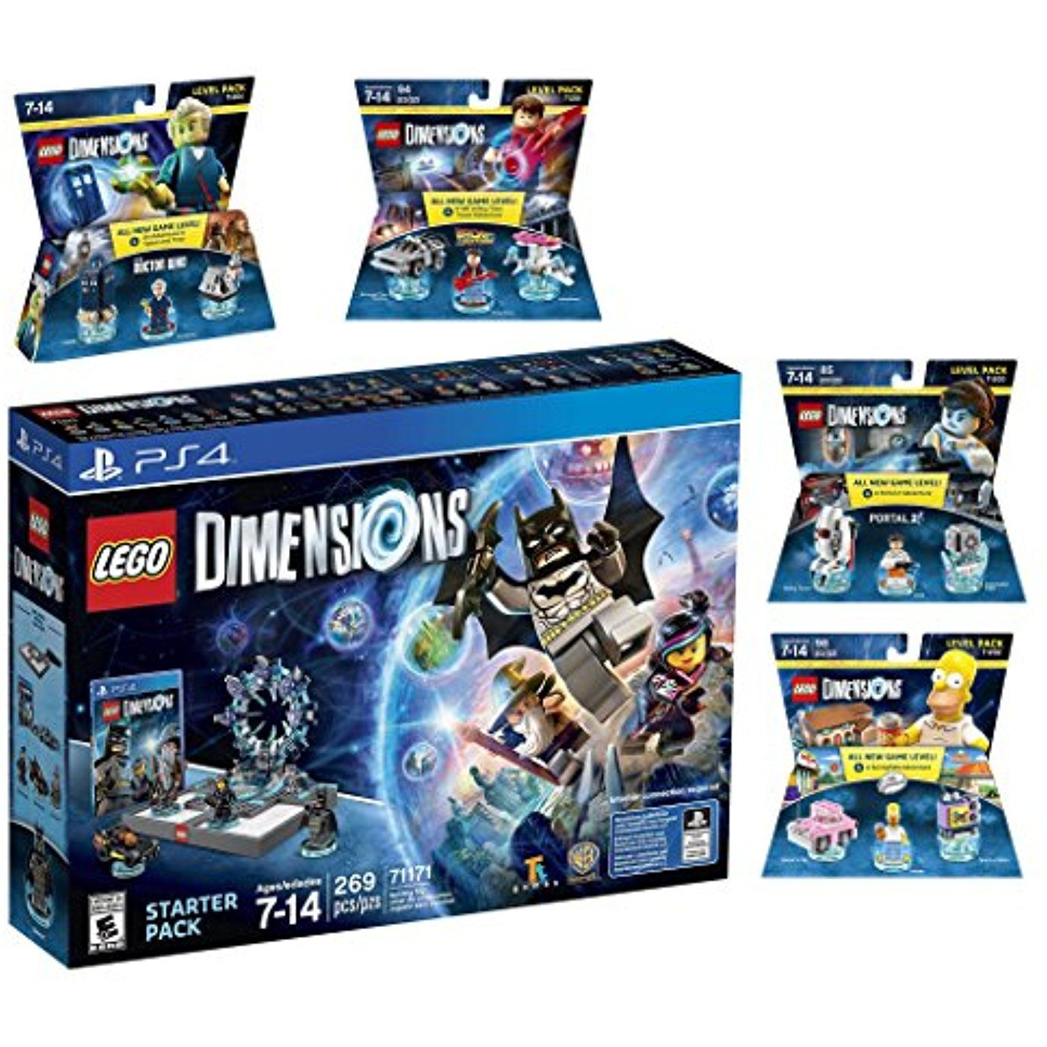 Lego Dimensions Starter Pack The Simpsons Homer Simpson Portal 2 Doctor Who Back To The Future Level Packs Playstat Lego Dimensions Xbox One S Xbox One