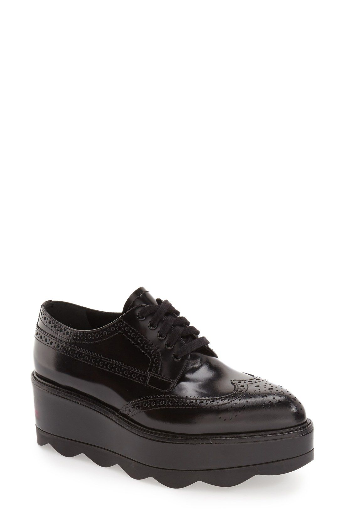 2f3c719c9dba Free shipping and returns on Prada Scalloped Platform Oxford (Women) at  Nordstrom.com. A dramatically lugged platform sole adds unmistakable modern  ...