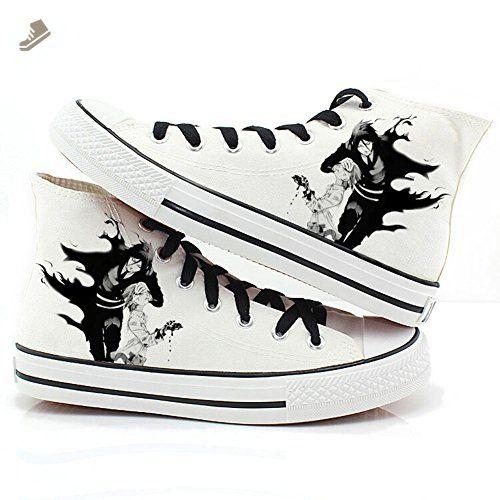 Black Butler Kuroshitsuji Anime Ciel and Sebastian Cosplay Shoes Canvas Shoes Sneakers 2