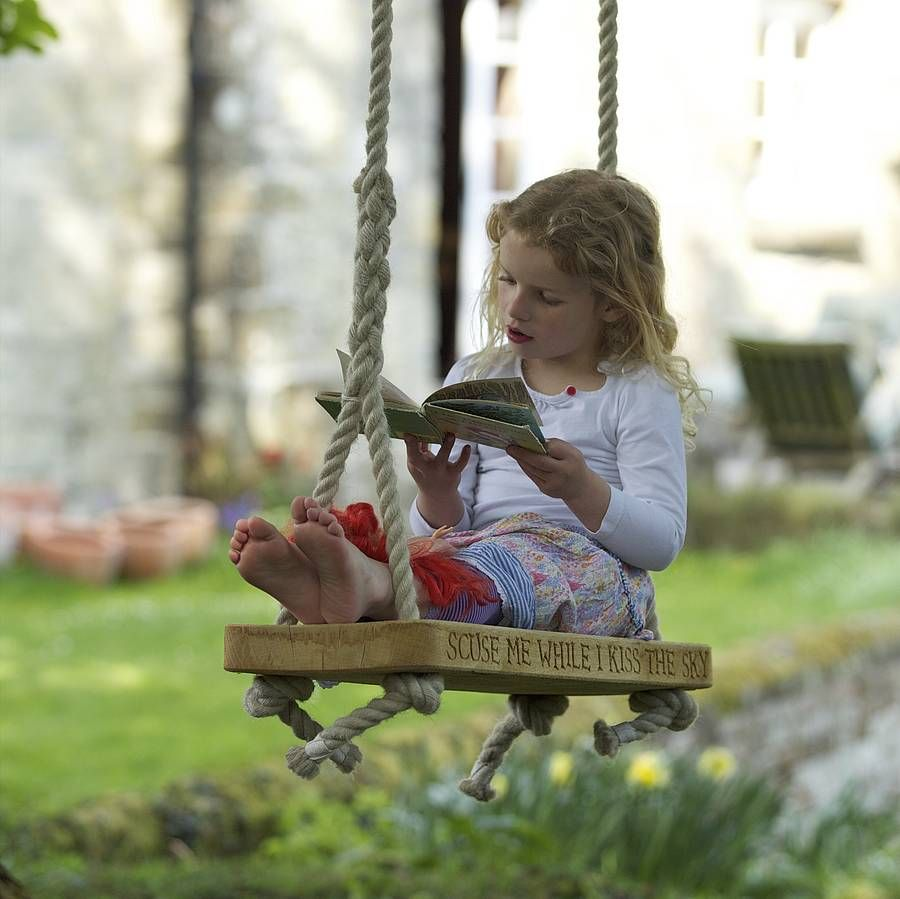 Personalised english oak swing to tell the sky and gardens