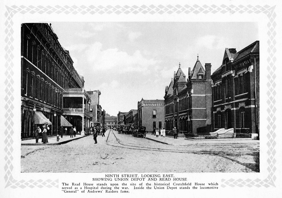 Read House Left And Union Depot Right On Ninth St 1909 Chattanooga Tennessee Chattanooga Tennessee Chattanooga Chattanooga Tn