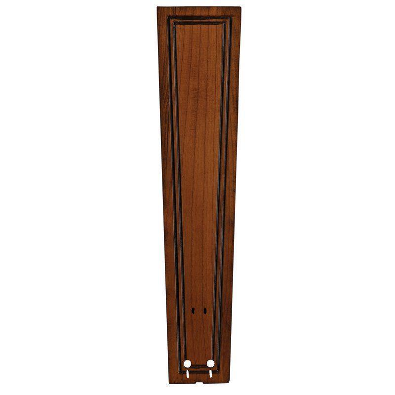 "Fanimation B6132 26"" Carved Rectangle Wood Blades for 60"" Ceiling Fans - Set of Rich Cognac Ceiling Fan Accessories Fan Blades Fan Blades"