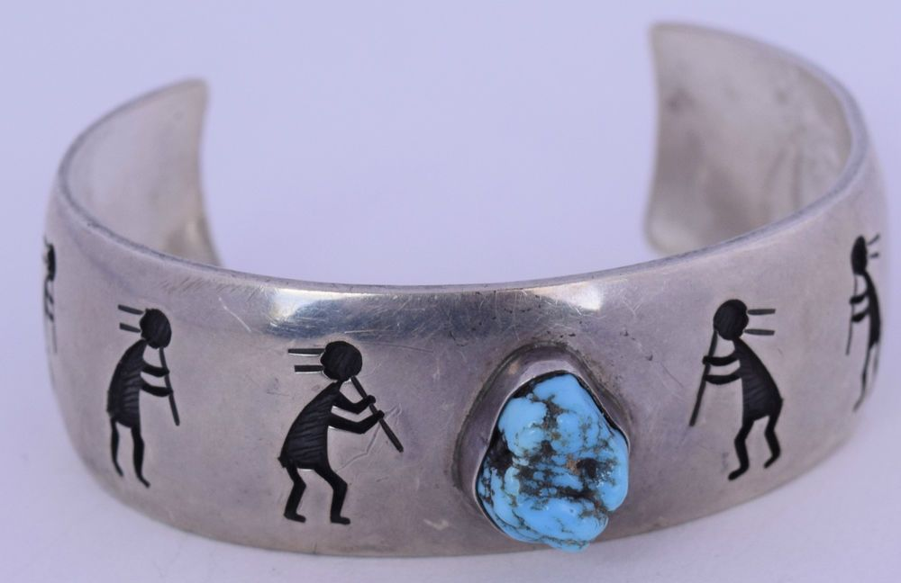 Vintage Native Hopi sterling silver, Turquoise Bracelet by VICTOR COOCHWYTEWA | Jewelry & Watches, Ethnic, Regional & Tribal, Native American | eBay!