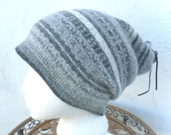 Winter Long Thick Wool Slouchy Tam Tube Hat   Upcycled by TEJIDOS, $25.00