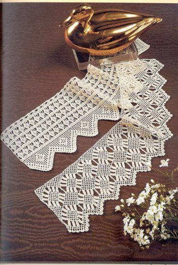 Bordure all 39 uncinetto pizzi all 39 uncinetto crochet for Bordure per altare all uncinetto