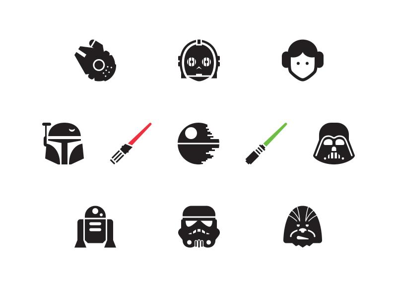 Free Star Wars Icons Star Wars Icons Star Wars Geek Star Wars Tattoo