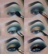 23 Maquillaje natural Smokey Eye Make You Tutorial de maquillaje Augen brillante; Augen M …