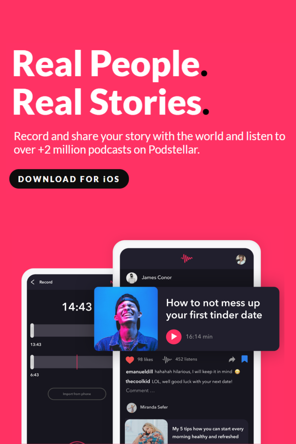 startup podcast dating app)