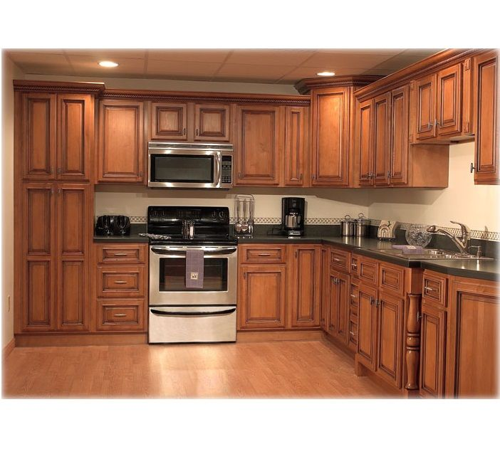 Wooden Kitchen Cabinet Hpd455 - Kitchen Cabinets - Al Habib Panel ...