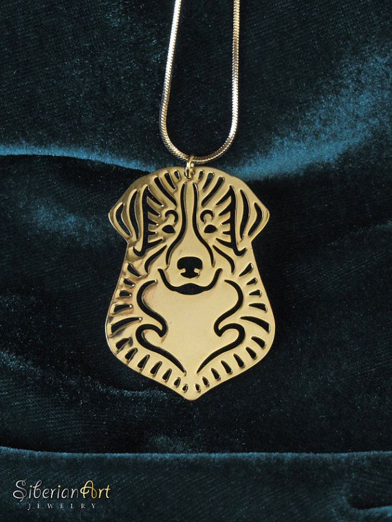 Bernese Mountain dog jewelry Gold pendant and necklace Dog