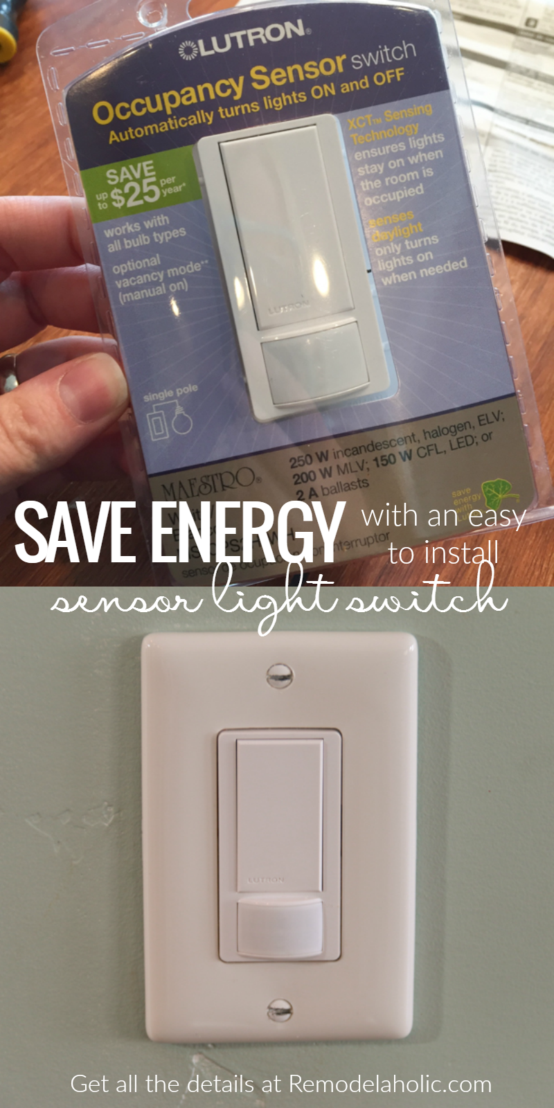 Lower Your Electricity Bills And Save Energy With An Easy To Install Sensor Switch For Your Lights Perfect For A Stora Save Energy Updating House Installation