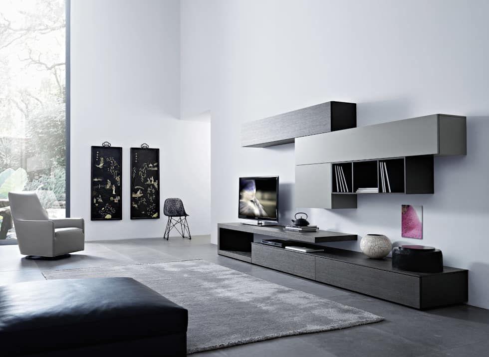 Exklusive Wohnzimmermöbel ~ Minimalistische wohnzimmer bilder: lampo wohnwand san giacomo
