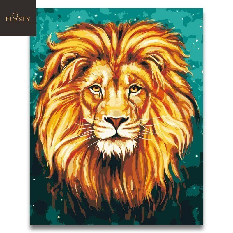 African Lion King Canvas Picture Poster Art