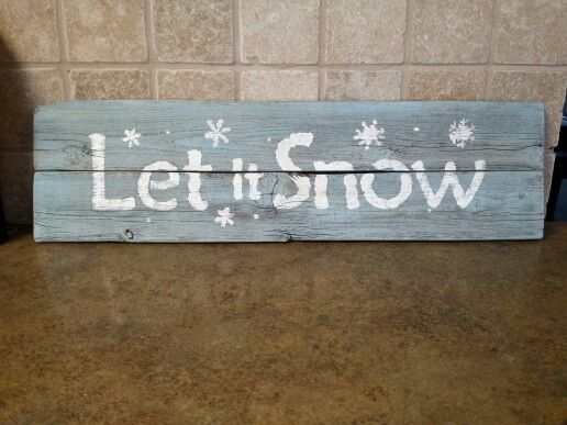 Let it snow... wall hanging