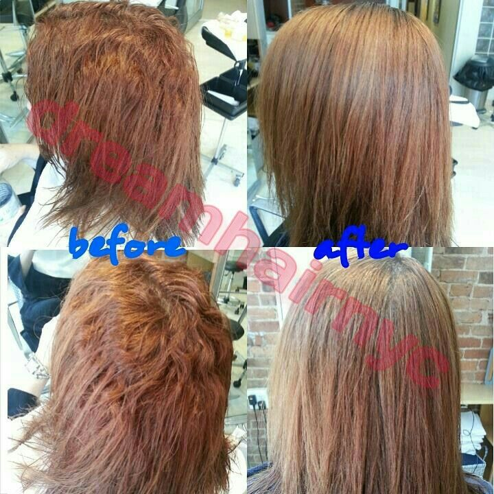 Great result. Perfect hair Japanese hair straightening email us at dreamhairnyc@gmail.com ...