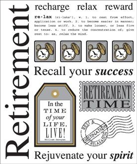 Retirement Scrapbook Pages | ... SAY IT WITH STICKERS RETIREMENT RETIRED JOBS CLEAR SCRAPBOOK STICKERS