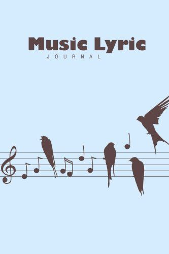 Music Lyric Journal (Lined Paper Writing Journal) by Lunar Glow - lined paper for writing