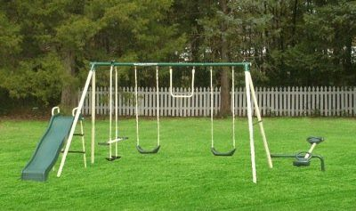 Amazon.com: Flexible Flyer Ground Anchor Kit for Metal Frame Swing Sets: Sports & Outdoors