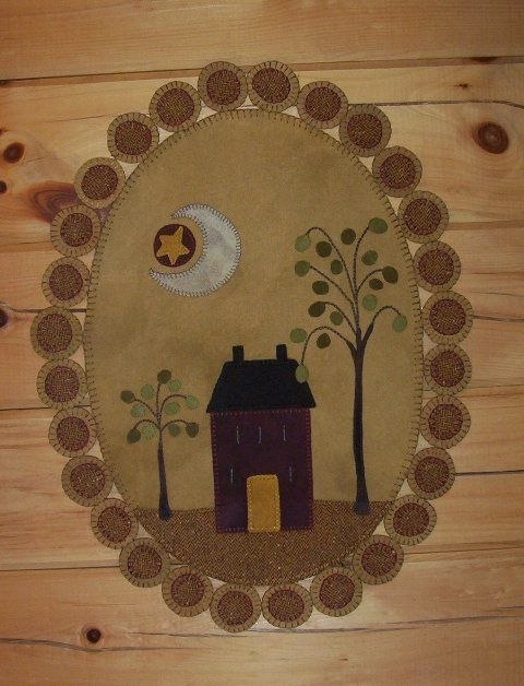 House Penny Rug from Winterberry Cabin