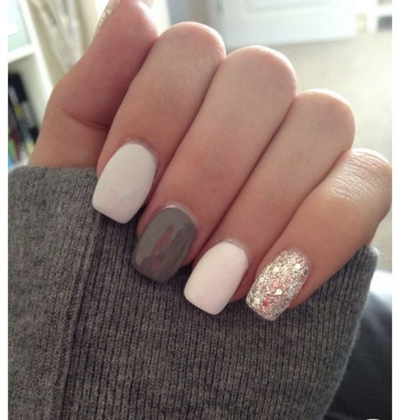 49 Short Square Round Acrylic Nail Designs | Nails | Pinterest ...