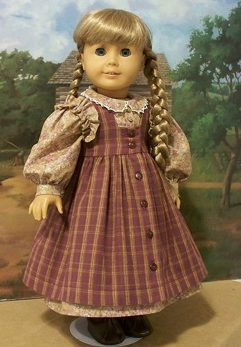Ruffled pioneer dress and pinafore for Kirsten