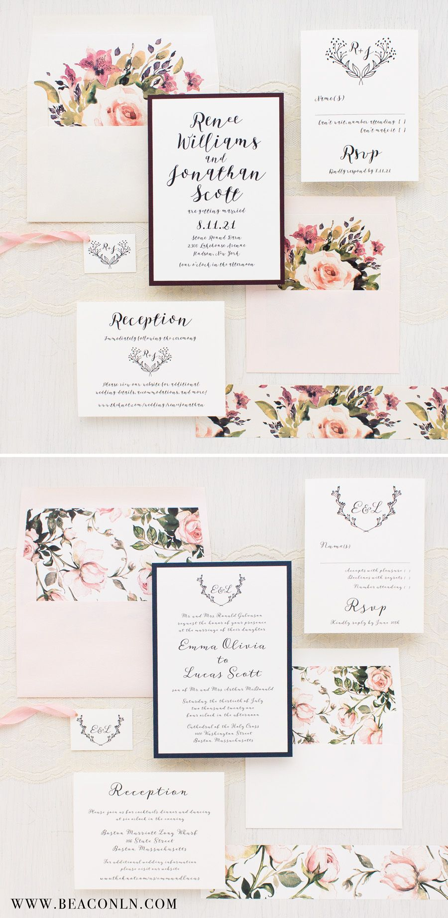 Romantic Garden Blooms With Blush Peach Ivory Burgundy And Navy