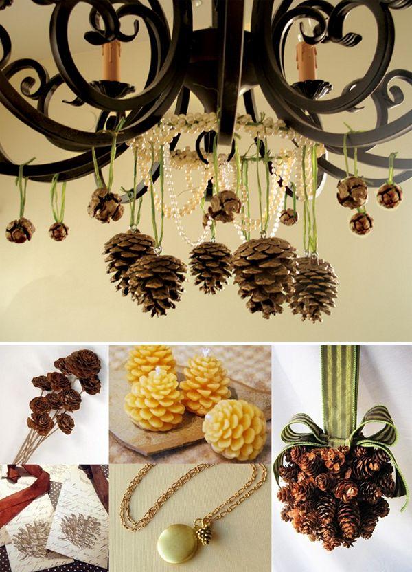 Pine cone decor thanksgiving fall diy pinterest