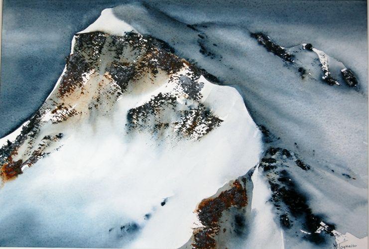 Nadia tognazzo watercolor art montagne et neige en 2018 pinterest aquarelle peinture et - Paysage enneige dessin ...