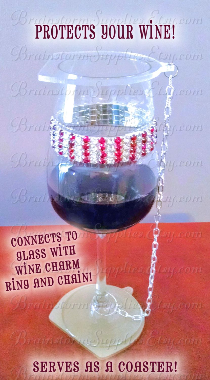 Acrylic Blanks Wine Glass Cover Coaster Kit 2 Wine Glass Shape Clear Acrylic Blanks Chain Stem Rings Blanks For Clear Acrylic Wine Glass Charms Glass