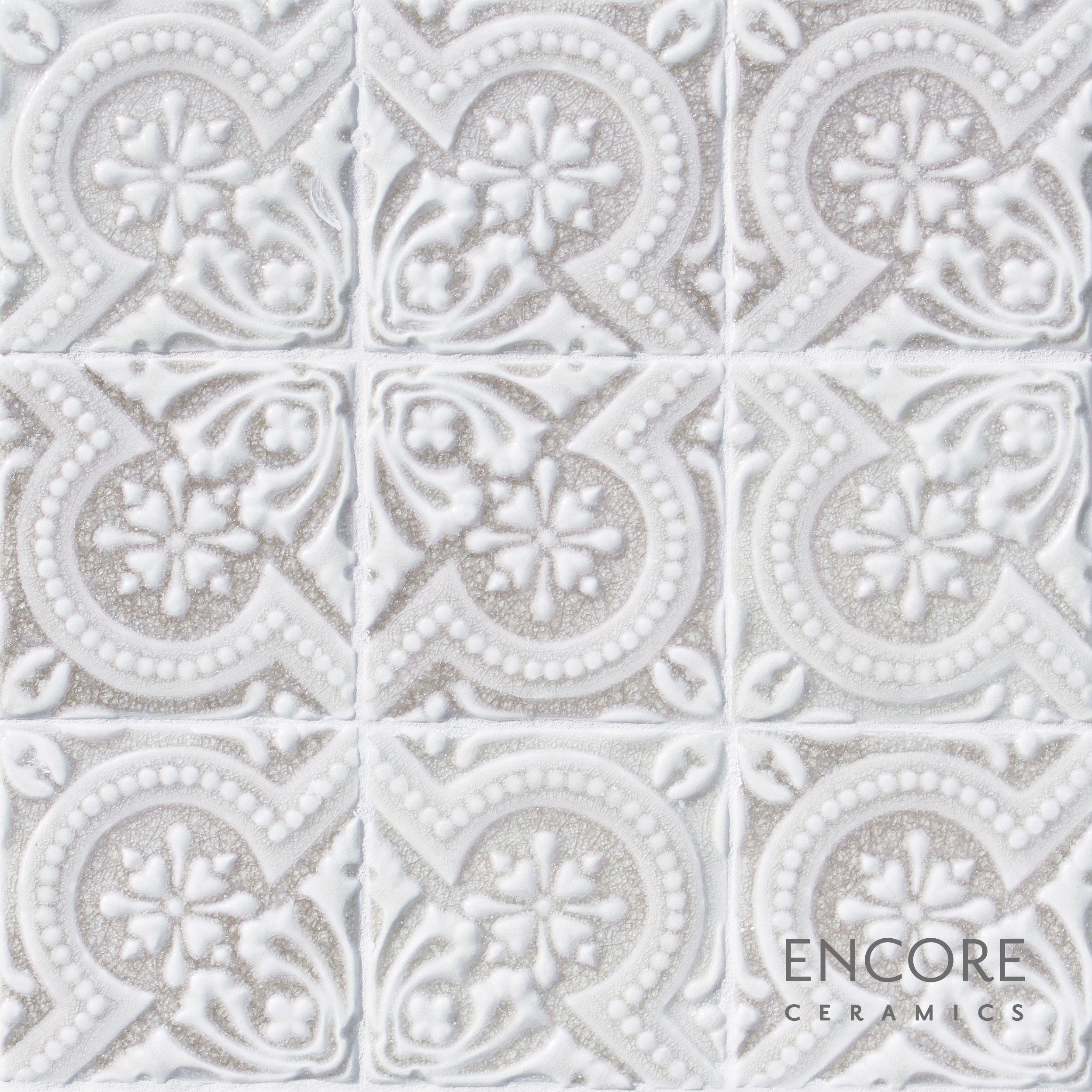 Encore Ceramics Anticipation Deco Field Hand Glazed In