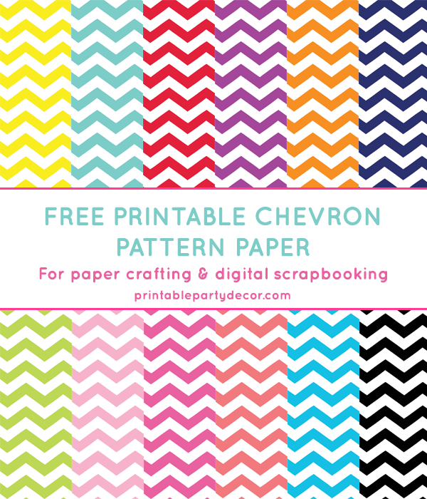 photograph about Free Printable Chevron Pattern called Chevron Electronic Paper (inside 12 colours) Free of charge Printables