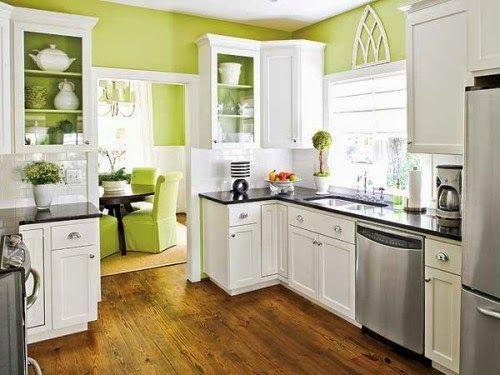 Keindahan Dapur Minimalis Modern Green Kitchen Inspiration Kitchen Inspirations Home Kitchens