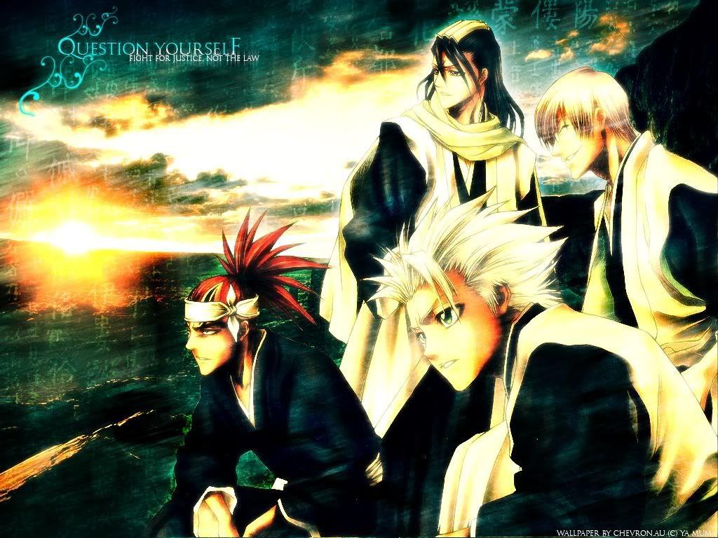 Bleach My Favorite Wallpaper Characters Renji Abari 6th Squad Vice Captain Byakuya Kuchiki Gin Ichimaru Former 3rd