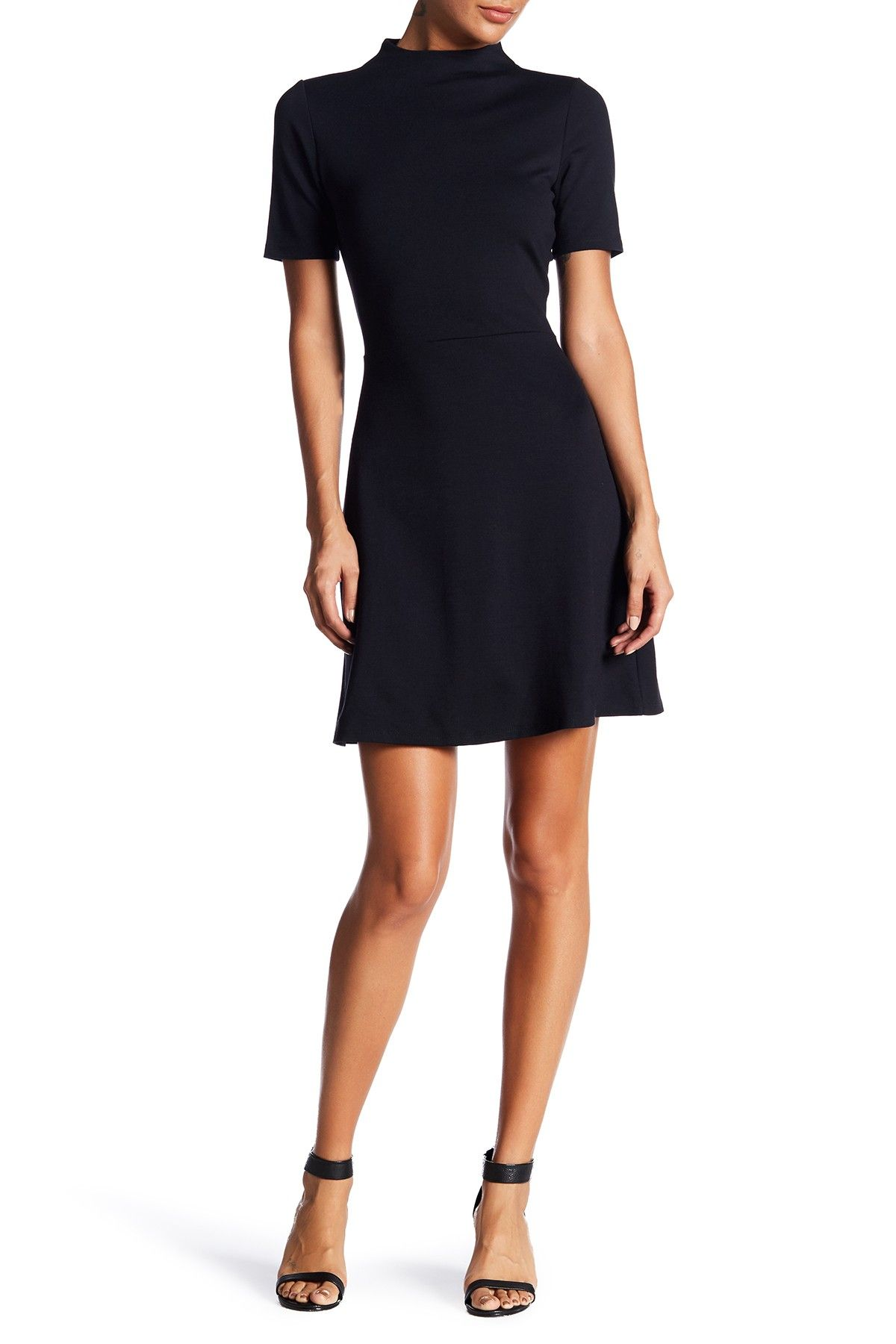 Vanity Room | Short Sleeve Ponte Fit & Flare Dress #nordstromrack