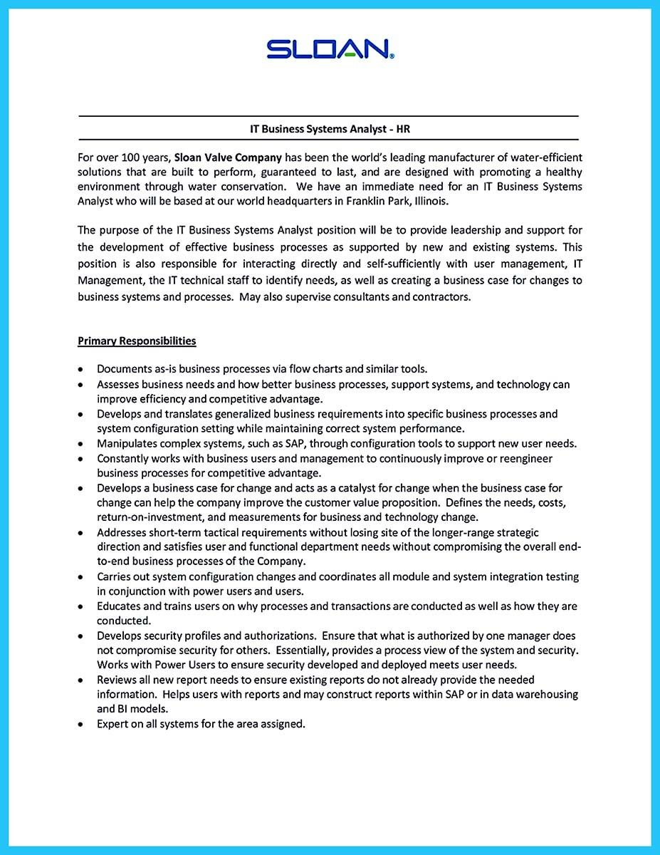 awesome Create Your Astonishing Business Analyst Resume