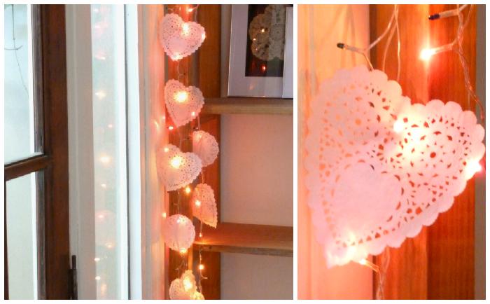 Papeles Pequeños: Blondas de colores + guirnalda  DIY - heart garland