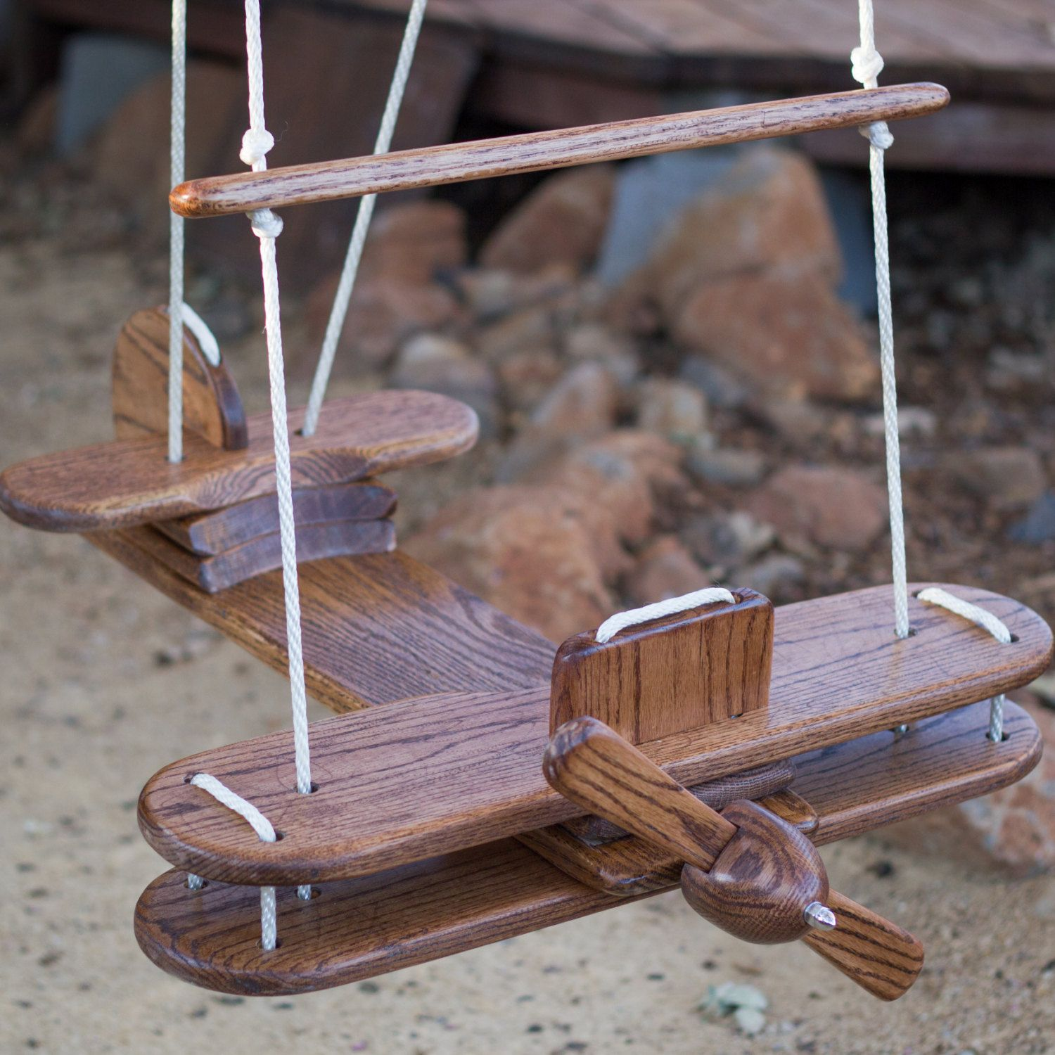 Kidus outdoor airplane swing by billdillon on etsy baby