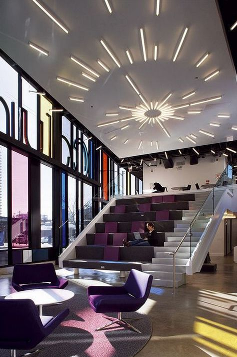 Being productive under this decorative accent lighting - Commercial interior design chicago ...