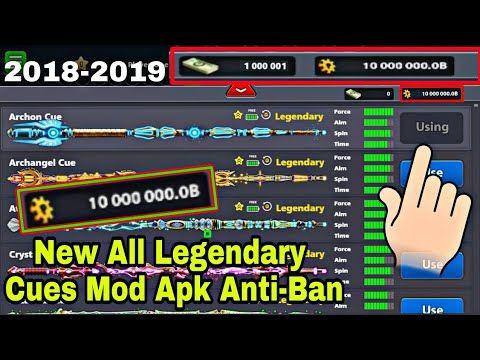 8 Ball Pool Mod 2018 All New Legendary Cues Mega Mod 100