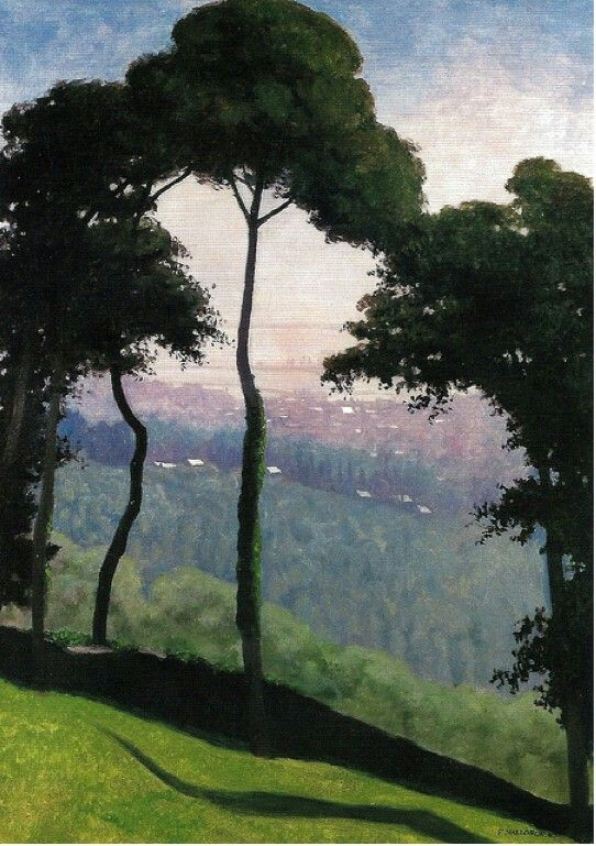 View of Cagne France  by Félix Edouard Vallotton Counted Cross Stitch Pattern