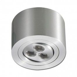 Foco Led Superficie Redondo Aluminio Idea Para Pasillo Focos Led Aluminio