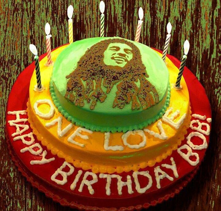 Phenomenal Bob Marley Birthday Cake Jamaica Bobmarley Personalised Birthday Cards Veneteletsinfo