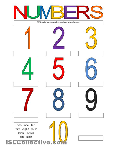 spanish worksheets for kindergarten | Numbers 1-10 worksheet - Free ...