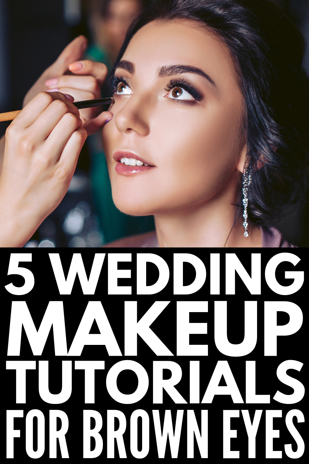 15 Classic Wedding Makeup Tutorials for Every Eye Colour