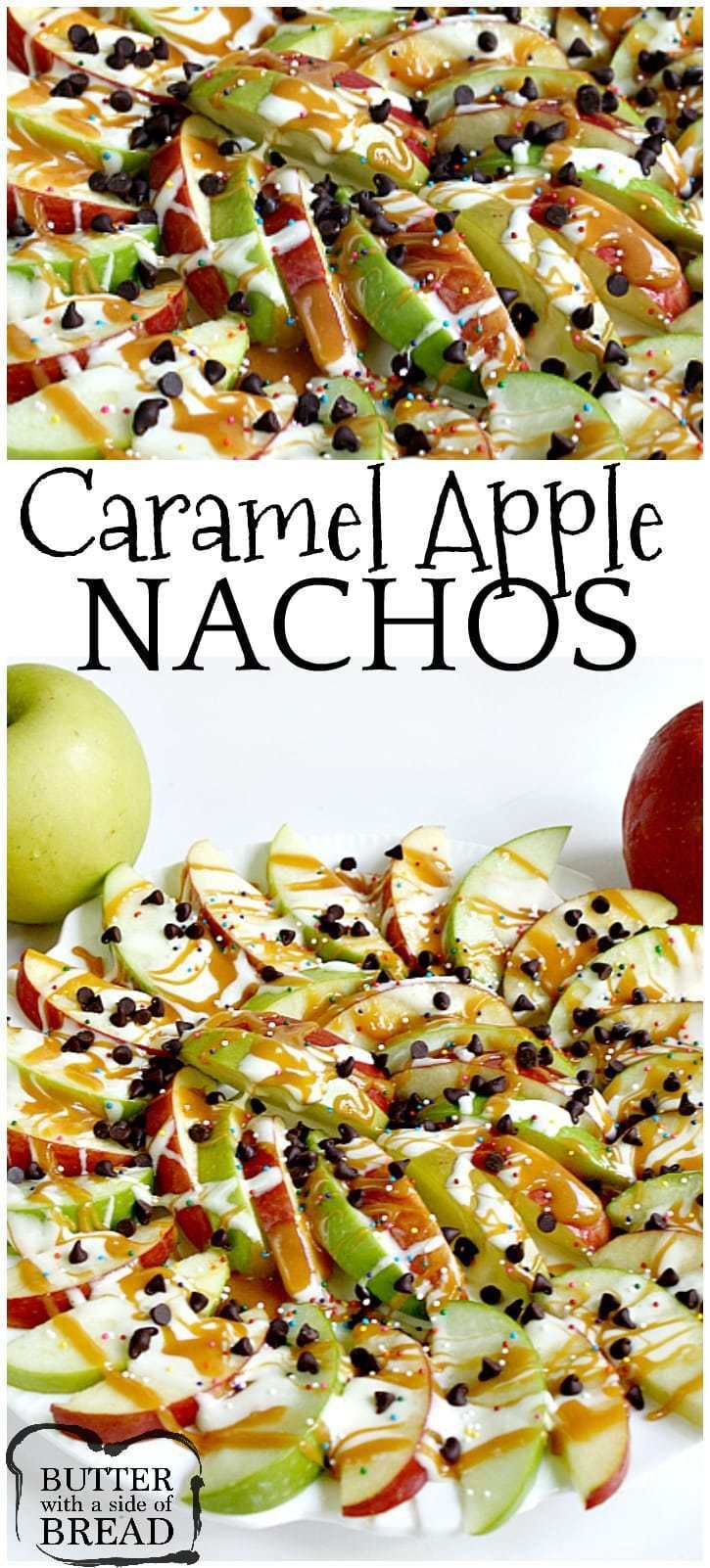 CARAMEL APPLE NACHOS #caramelapples