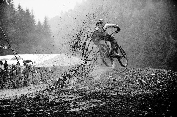 This looks like the most fun someone could have whilst riding a mountain bike.