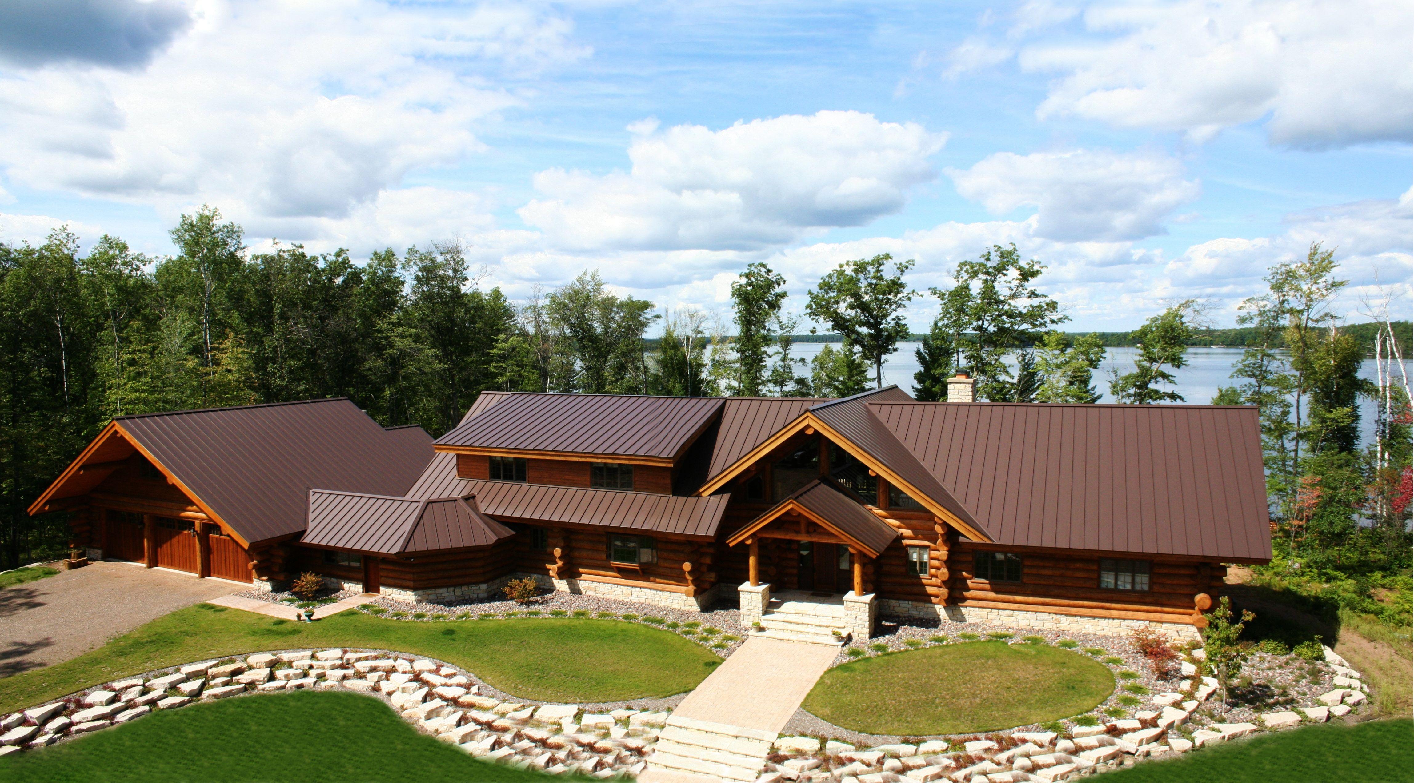 Best Standing Seam Metal Roof In Mansard Brown Metal Provided 400 x 300