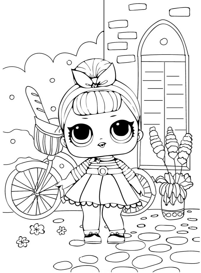 Кукла ЛОЛ на прогулке - Куклы LOL | Раскраски, Книжка ...