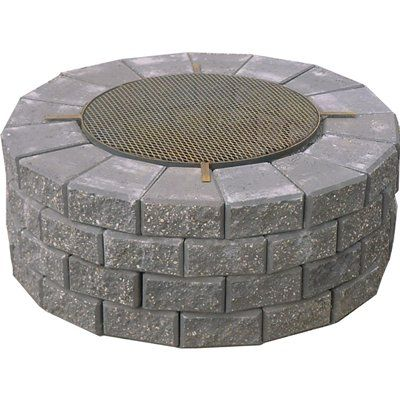 319 At Lowes Expocrete Fire Pit With Cooking Grate Fire Pit With Cooking Grate Fire Pit Fire Pit Kit